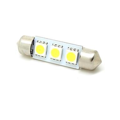 Festoon Car White 1W SMD 5050 5800-6300 Reading Light License Plate Light Door lamp