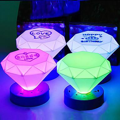 Cone Tvar Barevné ABS LED noční světlo (Random Color)