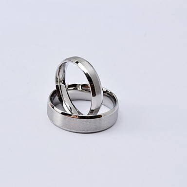 Women's Couple Rings Matte Classic Titanium Steel Round Jewelry Daily Casual