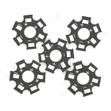 19,8 mm-Aluminiumunter für 1W / 3W / 5W LED-Strahler - Schwarz + Silber