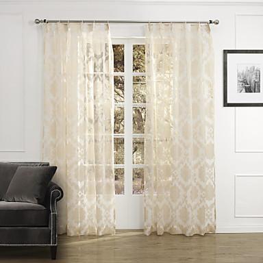 Sheer Curtains Shades Bedroom Polyester Jacquard