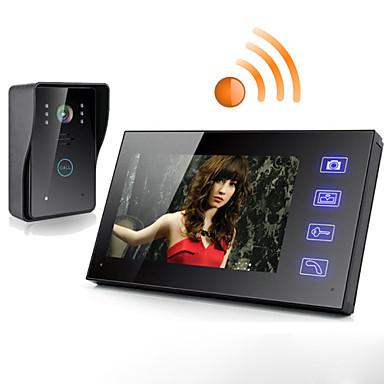 trådløs 7 tommers touch skjerm video dør telefon
