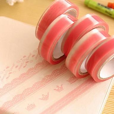 Roze Kant Patroon Tape (willekeurige kleur)