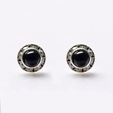 Damen Perle Ohrstecker - Perle, Krystall, Künstliche Perle Luxus Weiß / Schwarz Für Hochzeit Party Alltag / Diamantimitate / Schwarze Perle / Strass