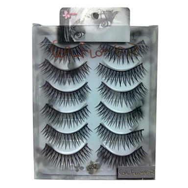 6 pairscoolflower false eyelashes 032# Cosmetic Beauty Care Makeup for Face