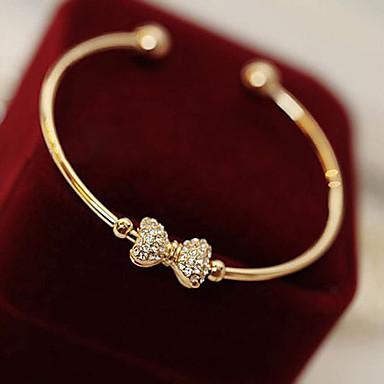 Dame Armbånd Mode Rhinsten Legering Butterfly Form Kærlighed Gylden Smykker For Daglig Julegaver