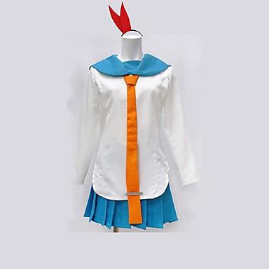 Inspireret af Nisekoi Kirisaki Chitoge Anime Cosplay Kostumer Cosplay Kostumer Patchwork Langærmet Top Nederdel Til Dame