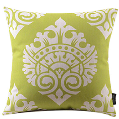 1 pcs Cotton/Linen Pillow Cover, Paisley Tropical