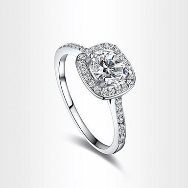 Dames Statement Ring Schermkleur Zirkonia Kubieke Zirkonia Verguld Gesimuleerde diamant Legering Luxe Liefde Hart Modieus Feest Kostuum