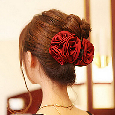 Korean Rose Shape  Acrylic Hair Claws For Women(More Colors)(1 Pc)