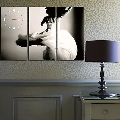 Dancer Clock in Canvas 3pcs