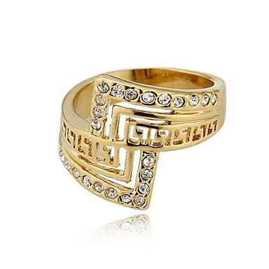 Band Ring Gold Gold Plated Others Unique Design Fashion Wedding Party Daily Costume Jewelry