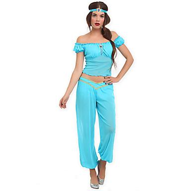 Prințesă DinBasme Costume Cosplay Costume petrecere Feminin Halloween Carnaval Festival/Sărbătoare Costume de Halloween Cyan 纯色