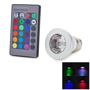 E26/E27 LED Spotlight 1 LEDs COB Remote-Controlled 100-200 AC 100-240V