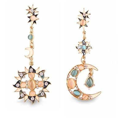 Dámské Visací náušnice Přizpůsobeno Luxus Evropský Umělé diamanty Slitina MOON Šperky Svatební Párty Denní Ležérní Sport Kostýmní šperky