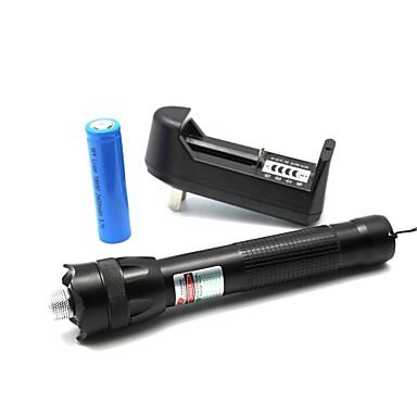 LT-zs0085 flahlight în formă de lumină zoom meci laser pointer verde (3 mW, 532nm, 1x18650, negru)