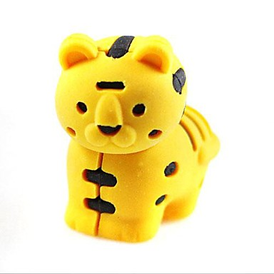 Cute DetachableLittle Tiger Shaped Eraser (Random Color x 2 PCS)