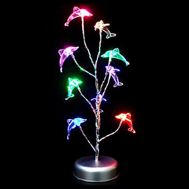 Farverige Dolphin Shape Plastic Bordlampe