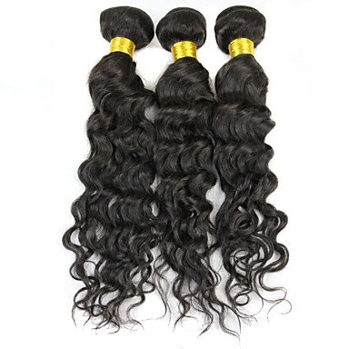 Classic Water Wave Human Hair Weaves High Quality 0.31 Daily