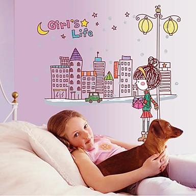 doudouwo ® lidé krásné dívky život samolepky na zeď