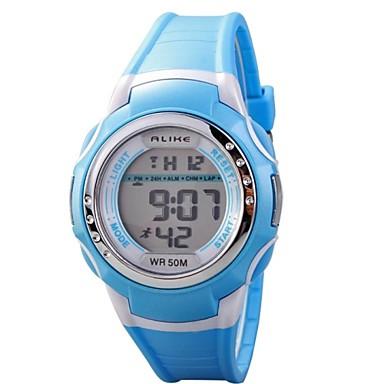 Kwarts Digitaal Digitaal horloge Sporthorloge Waterbestendig LCD PU Band Amulet Zwart Blauw Roze Paars Geel