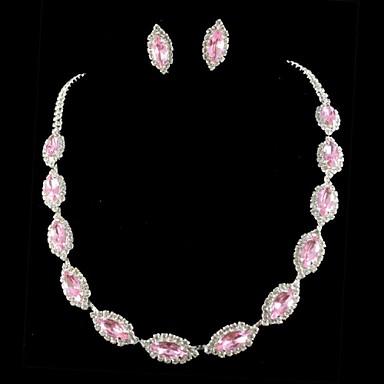 свадебное платье невесты ожерелье кристалла набор ювелирных изделий серег