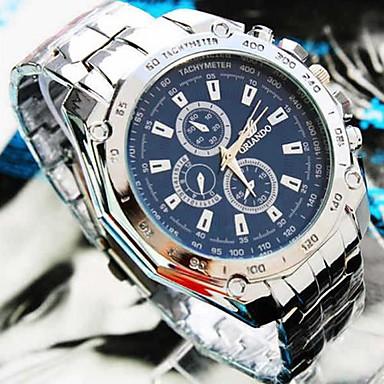Bărbați Quartz Ceas de Mână Ceas Casual Aliaj Bandă Charm Argint