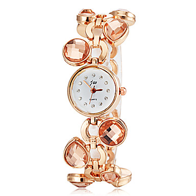 Women's Imitated Crystal Design Gold Alloy Band Quartz Bracelet Watch (Assorted Colors) Cool Watches Unique Watches