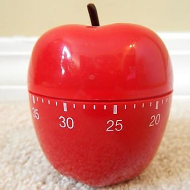 Red Apple formet Mekanisk Køkken Timer, Plastic 2.4