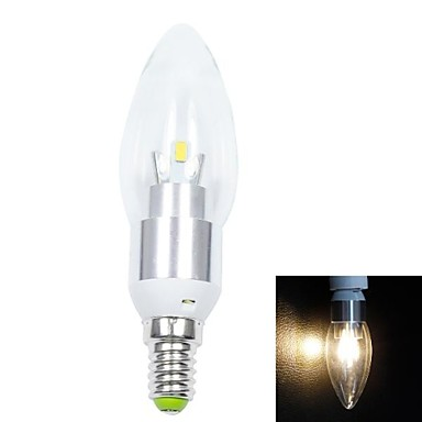 abordables Ampoules électriques-1pc 3 W Ampoules Bougies LED 200lm E14 E12 E26 / E27 6 Perles LED SMD 5730 Décorative Blanc Chaud Blanc Froid Blanc Naturel 85-265 V