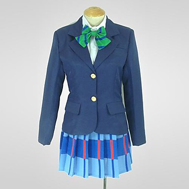 Inspired by Love Live Niko Yazawa Anime Cosplay Costumes Cosplay Suits Patchwork Long Sleeves Coat Shirt Skirt For Women's