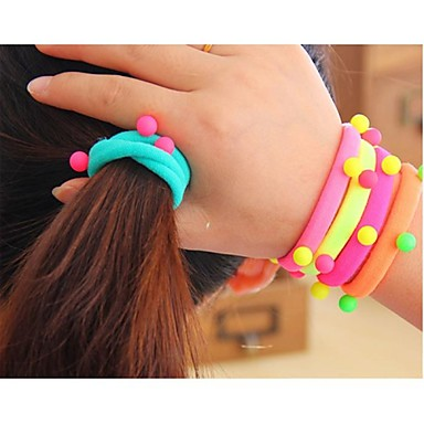 Color Matching the Ball High Elasticity Elastic Rope Hair Accessories (Color Random)