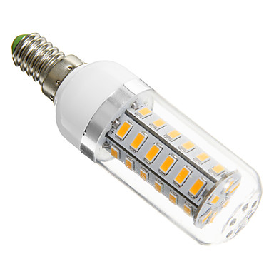 E14 LED corn žárovky 42 lED diody SMD 5730 Teplá bílá 420lm 3000K AC 220-240V
