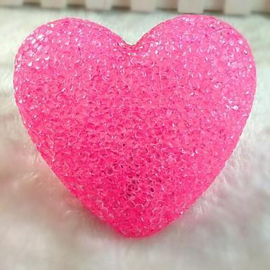 Coway Crystal Powder Kærlighed Farverige Automatisk LED natlys Wedding Dekoration Lampe