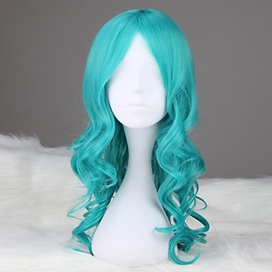 Cosplay Parykker Sailor Moon Sailor Neptune Blå Medium Anime Cosplay Parykker 55 CM Varmeresistent Fiber Kvindelig