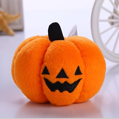 Cat Toy Dog Toy Pet Toys Plush Toy Halloween Pumpkin Textile For Pets