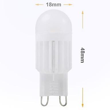 240 lm G9 LED Doppel-Pin Leuchten Eingebauter Retrofit 2 Leds SMD 5050 Dekorativ Kühles Weiß Wechselstrom 220-240V
