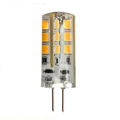 1.5W G4 LED Bi-pin Lights 24 leds SMD 2835 Warm White Cold White 150-200lm 2800-3200K DC 12V