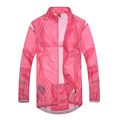 SANTIC Women's Cycling Jacket Bike Jacket / Ultraviolet Resistant Jacket / Top Quick Dry, Windproof, Breathable Solid Colored Bike Wear