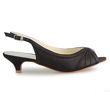 la femme est le satin printemps / / / Été / automne sandale faible talon or / beige / Violet  / mariage a6acfc