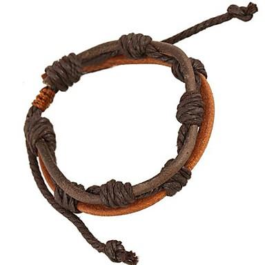 voordelige Herensieraden-Heren Wikkelarmbanden Gepersonaliseerde Leder Armband sieraden Bruin Voor Dagelijks