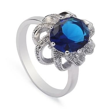 Жен. Заявление Синий Стерлинговое серебро Серебристый Для вечеринок Повседневные Бижутерия
