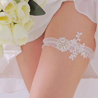 Polyester Klassisch Hochzeitsstrumpfband  -  Strass Blume Strumpfbänder