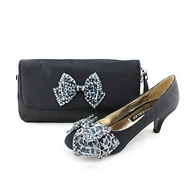 2468e4d26810 Calçados Femininos - Saltos - Bico Fechado / Sapatos com Bolsa Combinando - Salto  Baixo -