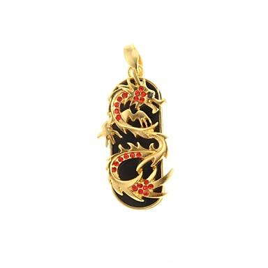 zp 64gb ruby gouden draak patroon bling diamant metalen stijl usb flash drive