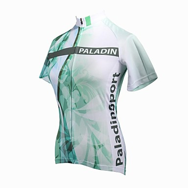 c7198518a ILPALADINO Women s Short Sleeve Cycling Jersey - Green Floral   Botanical  Plus Size Bike Jersey Top Breathable Quick Dry Ultraviolet Resistant Sports  100% ...