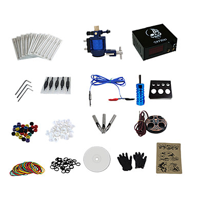 Tätowiermaschine Professionelles Tattoo Kit - 1 pcs Tattoo-Maschinen, Professionell Analoger Stromversorgung Case Not Included 1 x-Legierung Tattoo Maschine für Futter und Schattierung