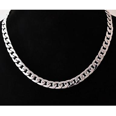 voordelige Herensieraden-Heren Kettingen meetkundig Baht Chain Box Chain Uniek ontwerp Modieus Roestvast staal Titanium Staal Zilver Kettingen Sieraden Voor Bruiloft Feest Lahja Dagelijks Causaal