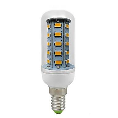600 lm E14 Becuri LED Corn T 36 led-uri SMD 5730 Decorativ Alb Cald AC 220-240V