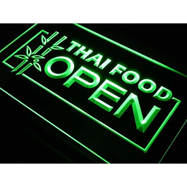 j705 Thais eten geopende cafe-restaurant neonlicht teken